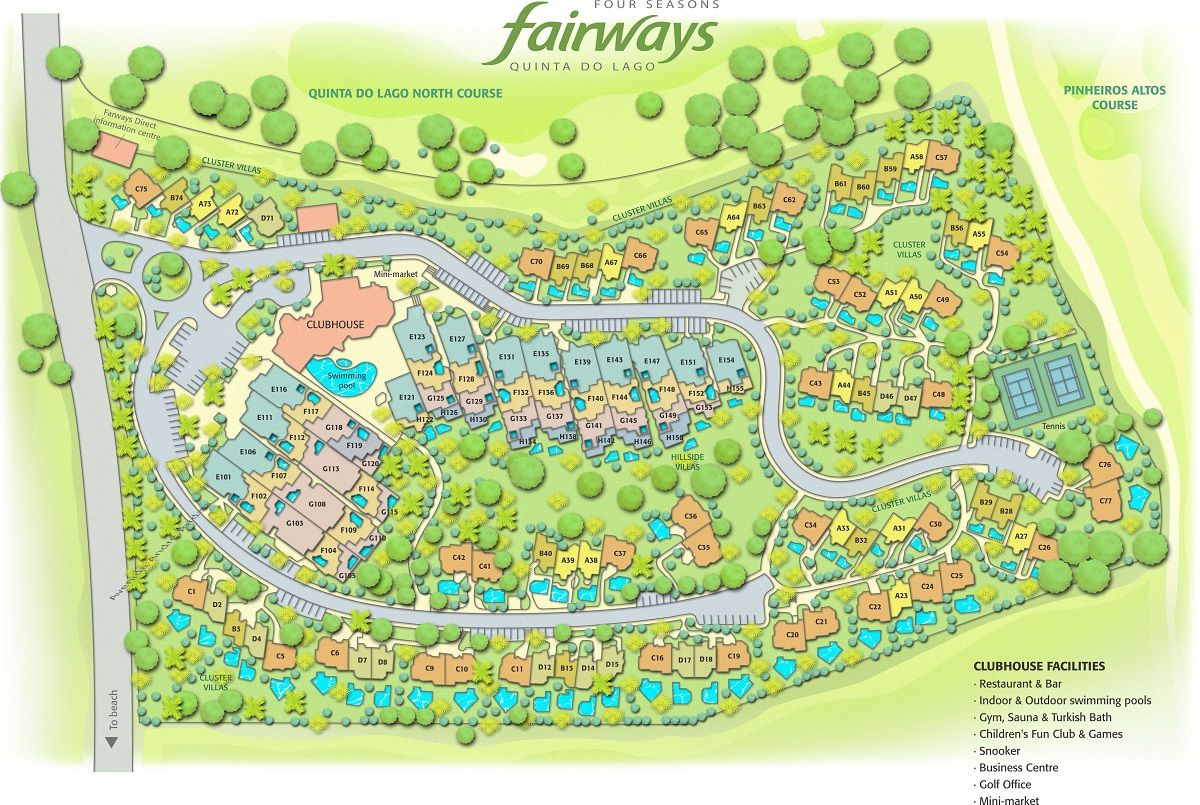 Four Seasons Fairways Resort's Map