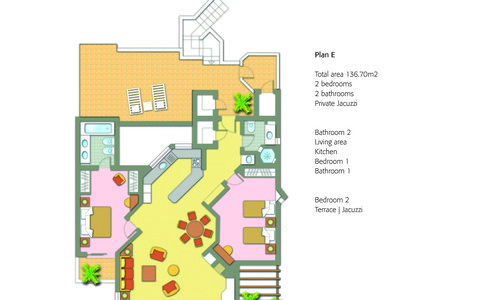 Two Bedroom Apartment with Pool - image #2