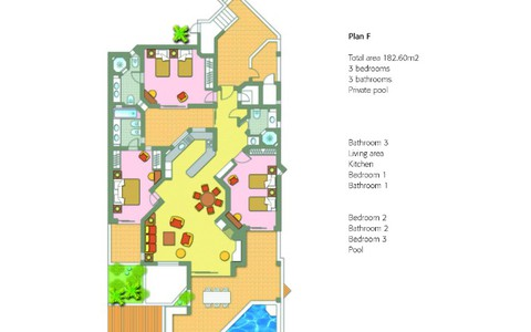 Three Bedroom Apartment With Pool - image #1