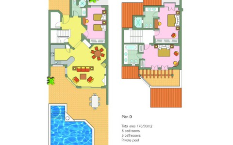 three bedroom villa with pool - image #1